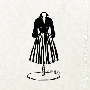 How to Draw a Vintage Dress - Sketch 275