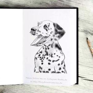 Drawing a Dalmatiner Dog - Sketch 376
