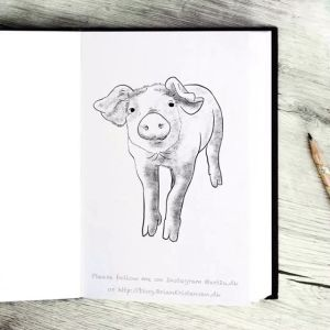 Drawing a Cute Little Pig - Sketch 377