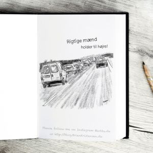 Pen and Ink Drawing of a Danish Highway - Sketch 428