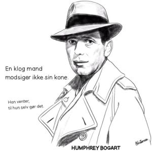 Pen and Ink Drawing of Humphrey Bogart - Sketch 475