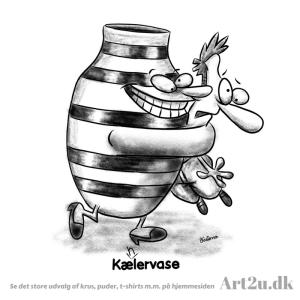 En Kælen Vase - Sketch 499