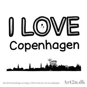 Pen and Ink Drawing of Copenhagen - Sketch 536