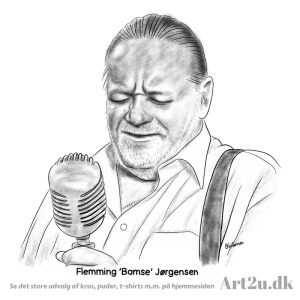 Pen and Ink Drawing of Flemming Bamse Jørgensen - Sketch 546