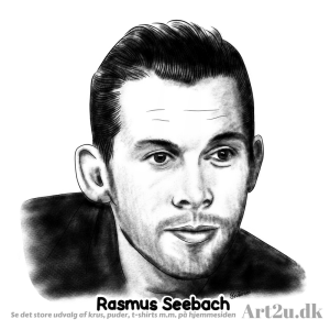 Pen and Ink Drawing of Rasmus Seebach - Sketch 569