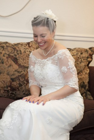 Vintage look wedding gown