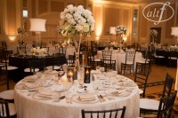Black and White Wedding Table Setting  Las Vegas Wedding