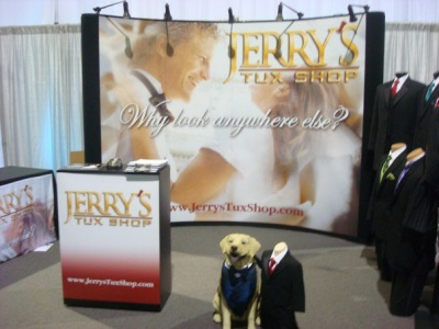 Jerry's Tux Shop booth at Bridal Spectacular