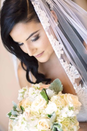 Bride in beautiful veil