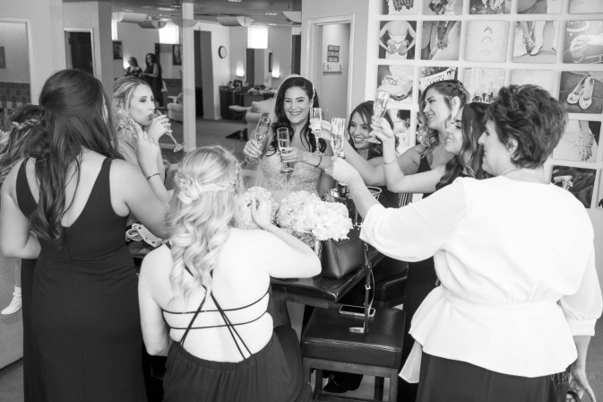 Bride with Bridal Party at Emerald