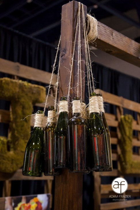 Hanging Bottles on Display