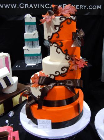 Wedding cake by Cravin' Cake Bakery.