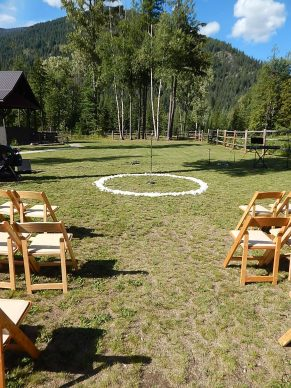 Rose circle for ceremony