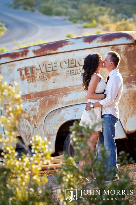 Vintage Setting for Engagement Photo by John Morris