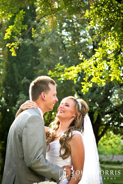 Blissful Wedding Day Portrait by John Morris