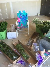 Boxes of Flowers to Prepare