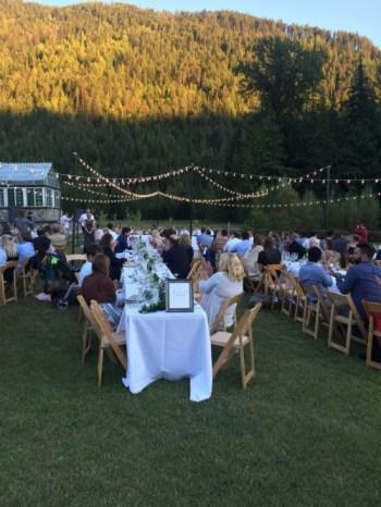 Bistro lighting at a wedding