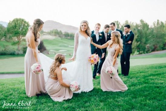 Blush Bridesmaids by Jenna Ebert