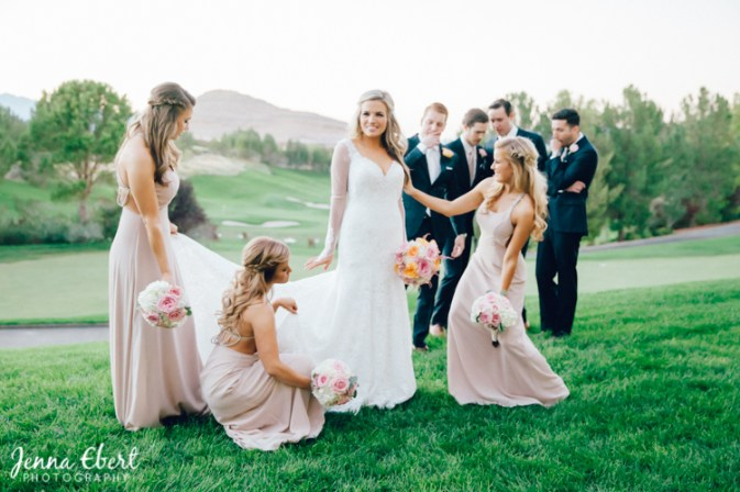 Blush Bridesmaids by Jenna Ebert