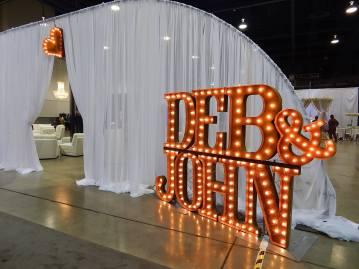 Bride & Groom Lettering