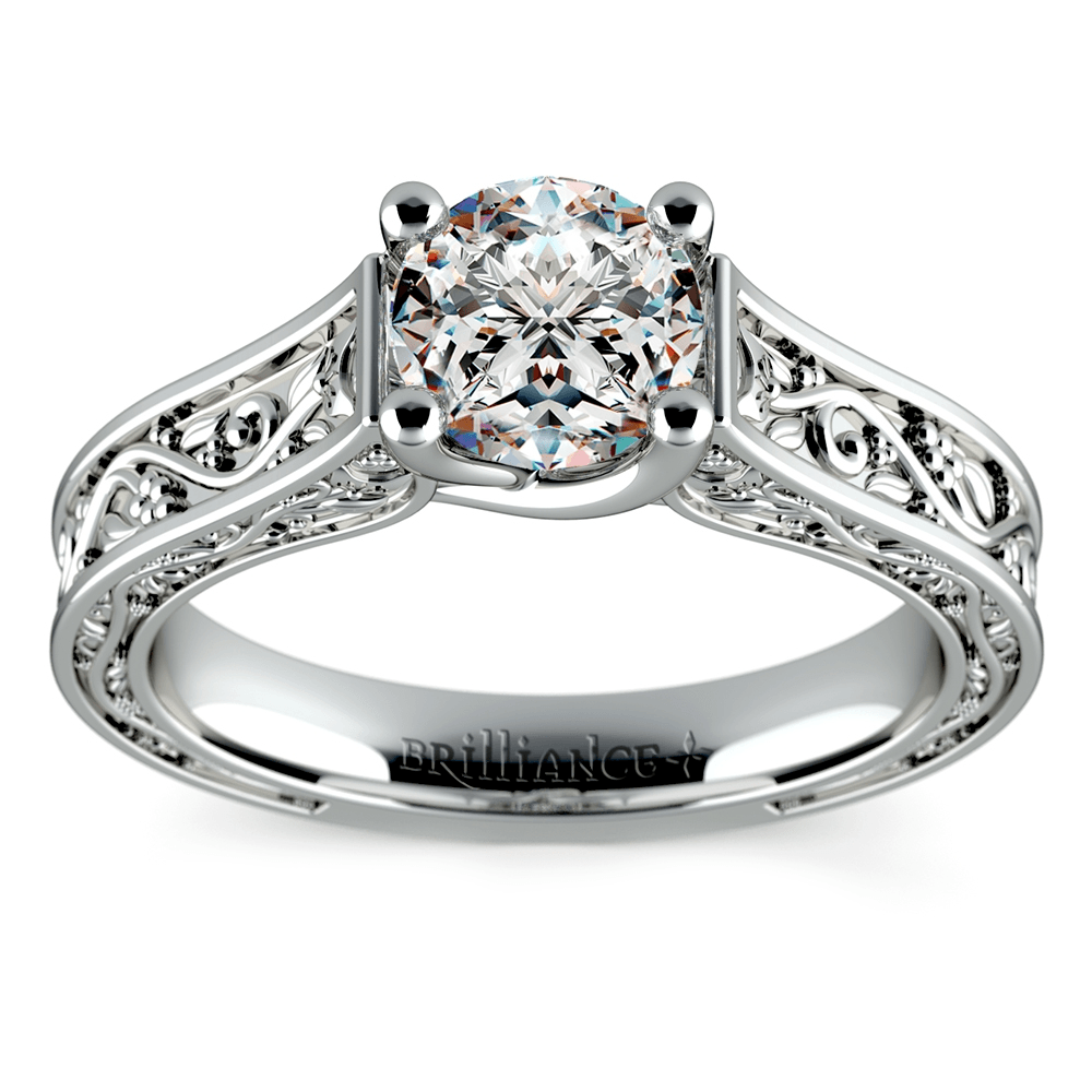 Antique Style Wedding Rings That Are Conflict Free  The