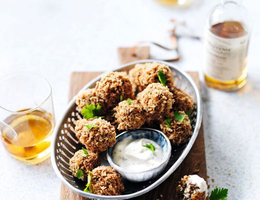 Haggis Bon Bons with Whisky Sauce