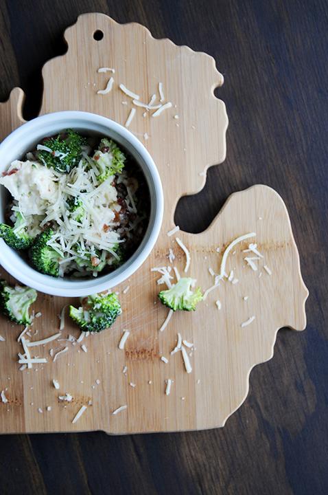 Broccoli Cauliflower Salad On Michigan Breadboard