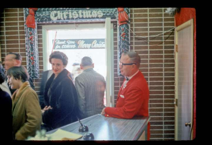 Inside of old store entrance 1962
