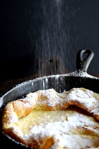 Pancake With Powdered Sugar Dusting
