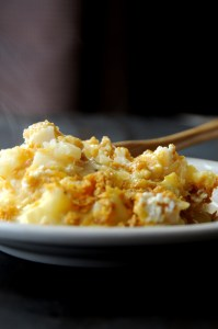 Steaming Cheesy Potatoes