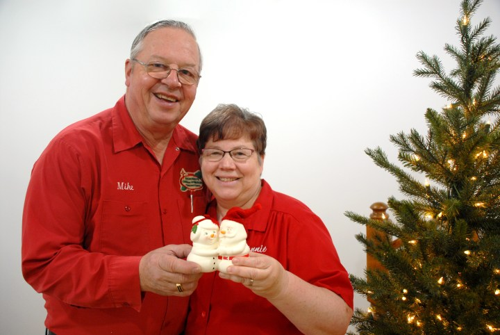 Mike And Connie At Bronner's With Department 56 Mr. And Mrs. Claus Snowpinion