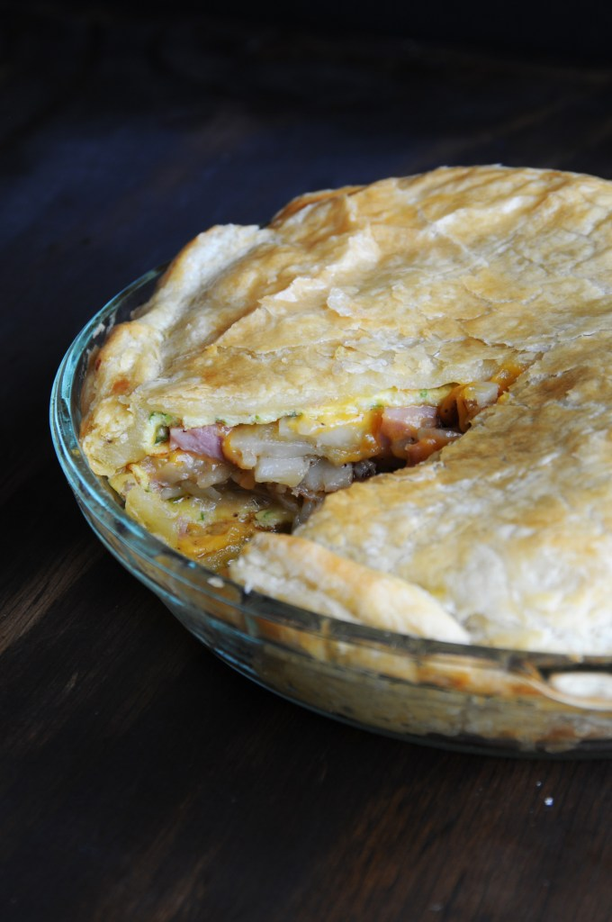 Flaky Pie Crust, Ham Omelette Pie