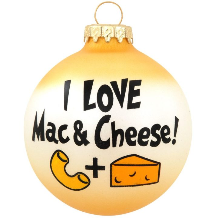 I Love Mac And Cheese! Glass Christmas Ornament