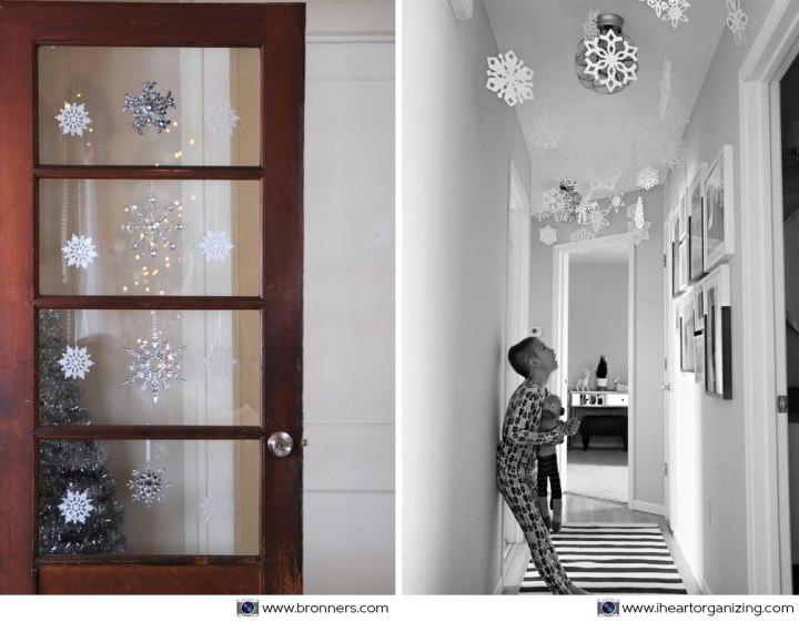 Door And Ceiling Snowflake Decorations
