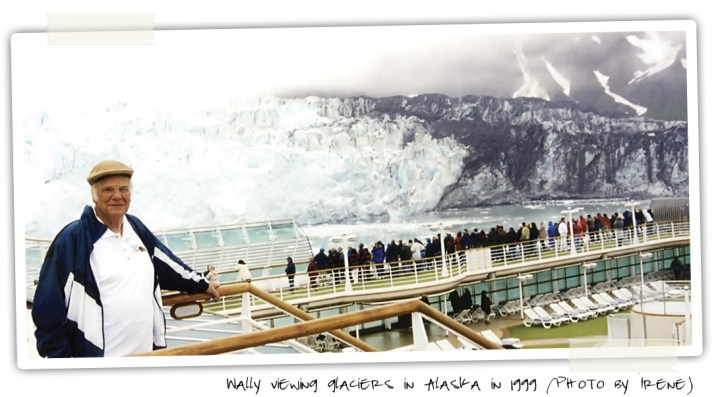 Wally Bronner Viewing Glaciers From Alaskan Cruise