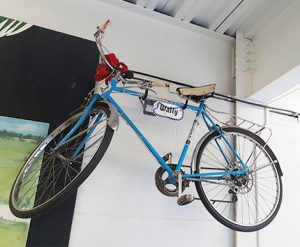 Wally Bronner's Bike Display