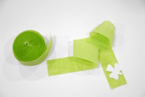 Crepe Paper And Shamrock Template
