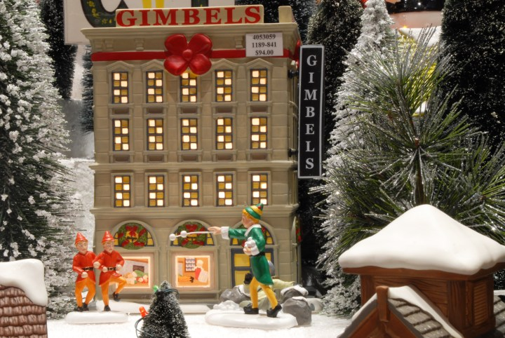 Elf At Gimbels Department 56 Village Pieces