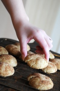 Hand Grabbing A Snickerdoodles Cookie
