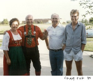 Bronner's Employee Craig Fick With Wally And Irene At high School Open House In 1985