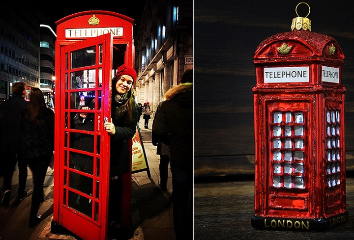 Iconic Red Phone Box In London England
