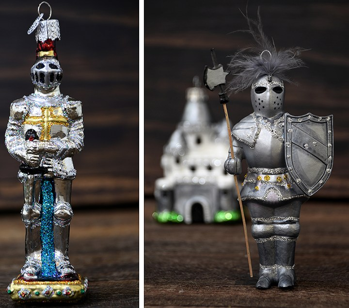 Knight In Shining Armor Glass Ornaments