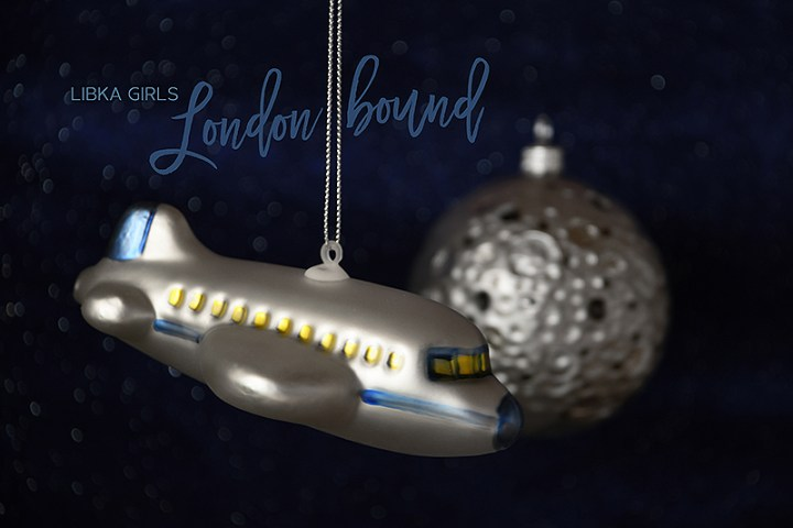 Night Flight. Airplane And Moon Glass Christmas Ornaments