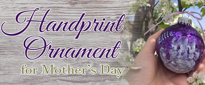 DIY Painted Hand-print Ornament for Mother's Day