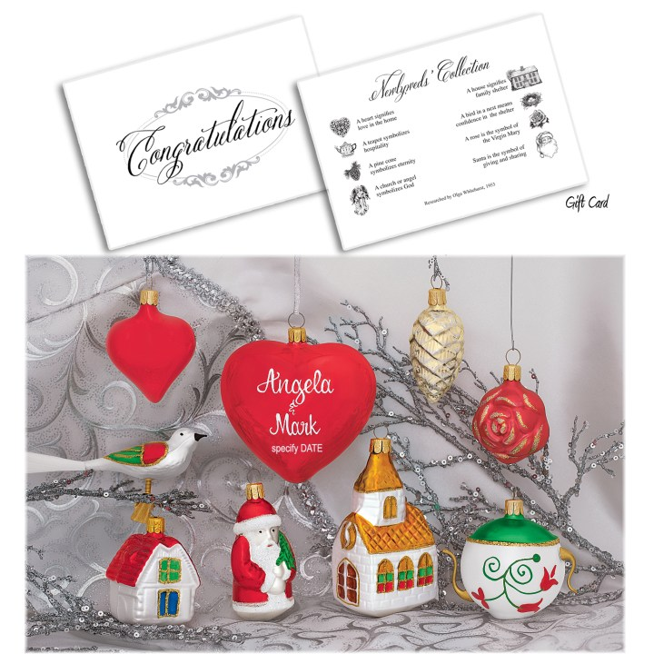 Bronner's Signature Newlywed Collection Ornament Set In Gift Box