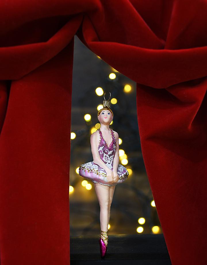 Ballerina Glass Ornament From Bronner's Christmas Wonderland