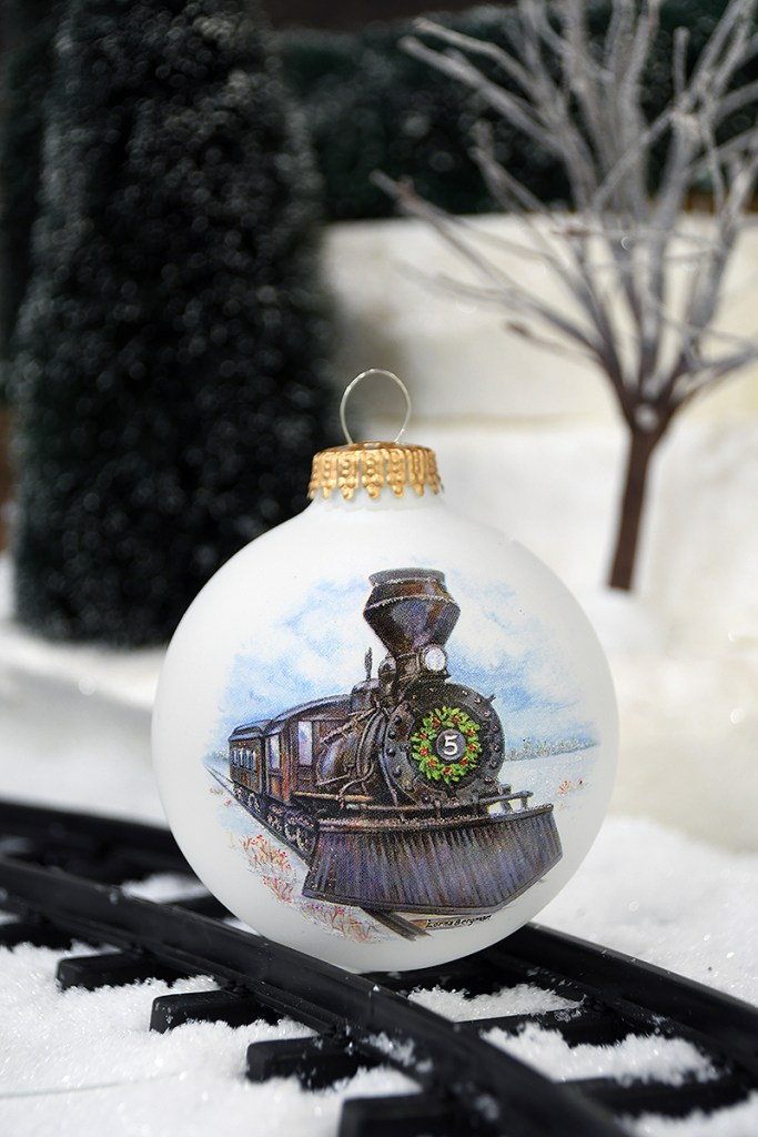 Bronner's Classic Train Christmas Ornament Has Old World Charm.