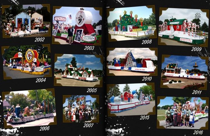 Bronner's Bavarian Festival Parade Floats, 2002-2016.