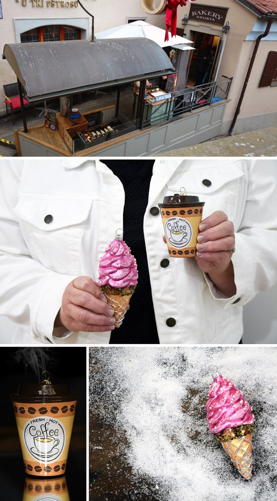 Bakery Krusta In Prague Offered Homemade Waffle Cones.