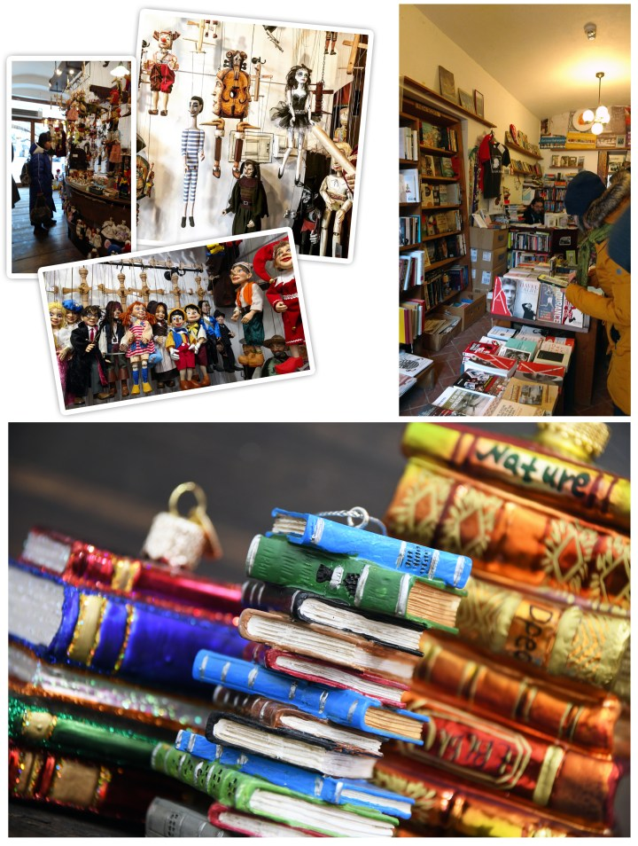 Marionette Shop And Bookstore In Prague.